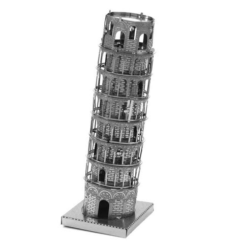 Cubic Puzzle 3d Leaning Tower Of Pisa Large Size aipin diy 3d puzzle stainless steel assembled model the leaning tower of pisa alex nld