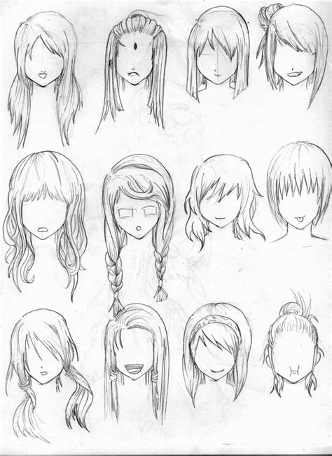 anime hairstyles ideas anime girl hairstyles drawings hairstyles ideas
