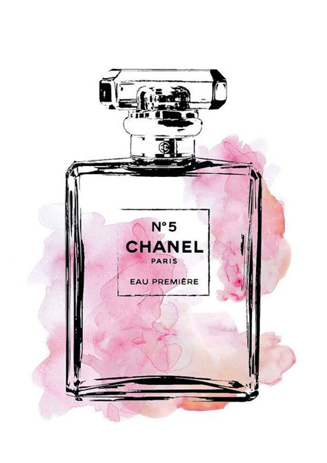 Plakat Coco Chanel by Chanel Poster 24x36 Coco Chanel No5 Illustration