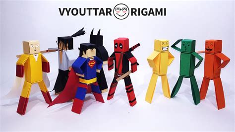 Origami Characters - how to make paper characters minecraft characters