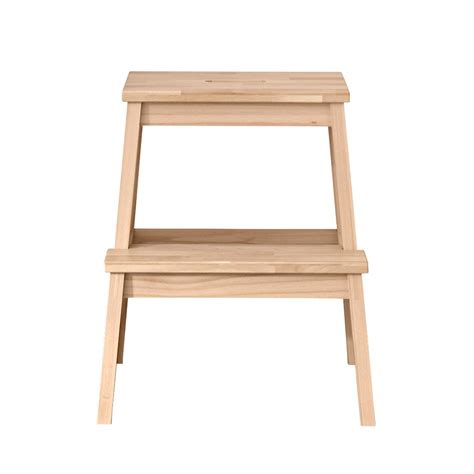 ikea 2 step wooden stool bekvm step stool by nike karlsson for ikea