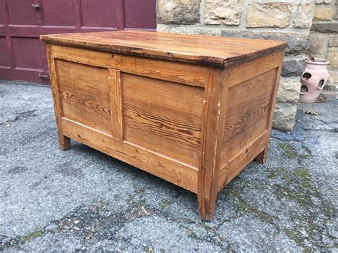large wooden chest attainable vintage