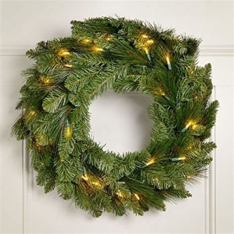lighted wreath with timer best cheap battery lit christmas wreaths a listly list