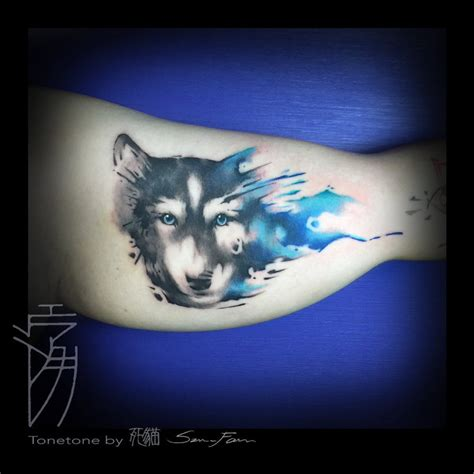 husky watercolor tattoo by sakura1690 on deviantart