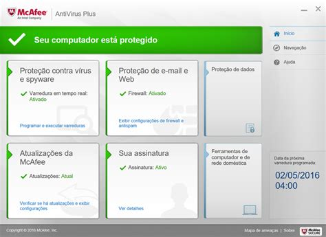 Antivirus Mcafee Original mcafee antivirus plus techtudo