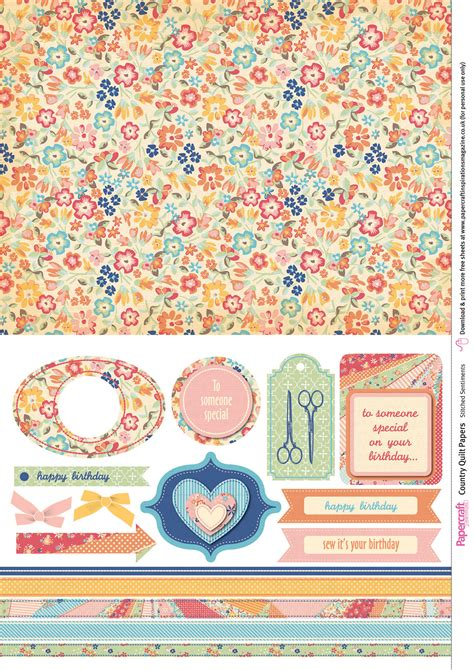 Free Paper Downloads For Card - country quilt free digital papers papercraft inspirations
