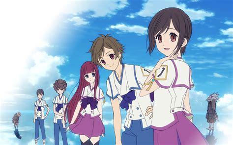 shinsekai yori water clouds anime boys skyscapes anime shinsekai