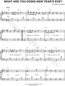 new year piano sheet easy frank loesser quot what are you doing new year s quot sheet