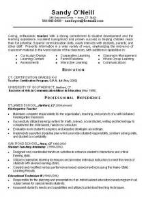 Objective For Teaching Resume by Writing Resume