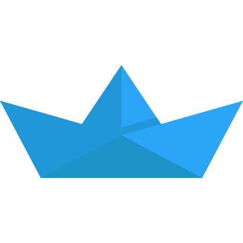 origami boat flat paper boat icon