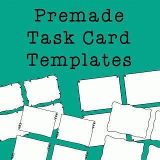 lynette task card template task cards card templates and templates on