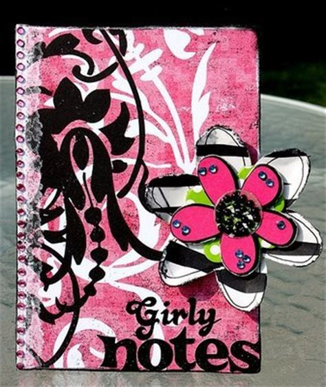 diy girly crafts decorated notebook cover diy craft project favecrafts