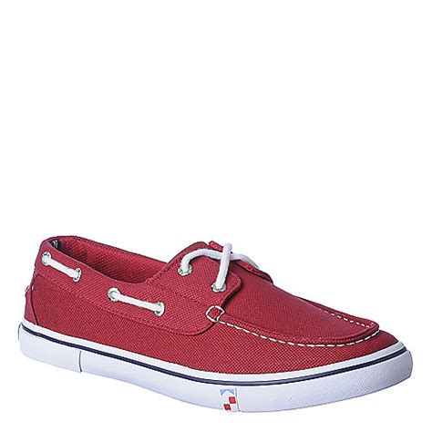 boathouse shoes nautica boathouse men s red casual lace up boat shoes
