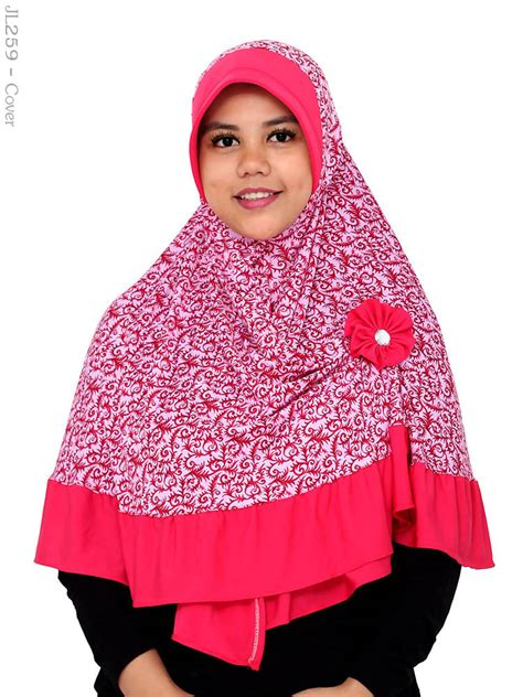 Jilbab Bolbal Size L 75 jilbab cantik muslimah jl259 busana muslim murah terbaru