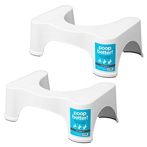 Squatty Potty Toilet Stool 2 Pack by Squatty Potty The Original Bathroom Toilet Stool 7 Quot White