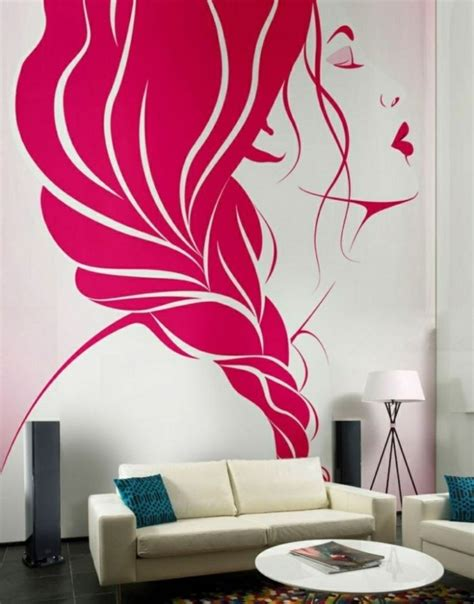 wohnzimmer paint ideas wandmalerei macht das wohnzimmer noch wohnlicher 30