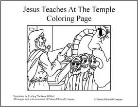 Jesus In The Temple Coloring Page jesus in the temple coloring page for preschool coloring pages