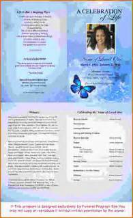 doc 700539 printable funeral program templates 31