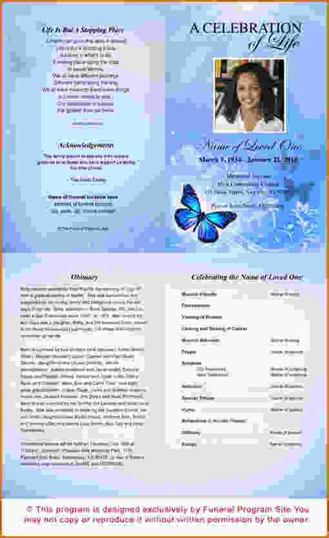 free printable funeral program template 12 free printable funeral program template