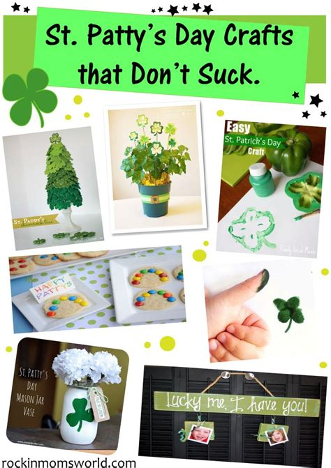 easy st s day easy st patricks day crafts time