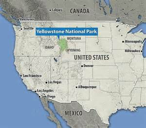 us map yellowstone yellowstone supervolcano eruption would cause 90k deaths