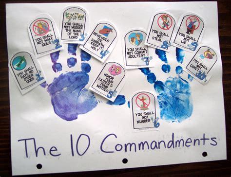 10 commandments crafts for up a child 10 commandments pt 2 his treasure seekers
