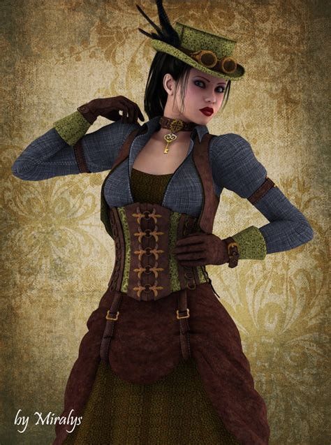 steam punk style lyssiana in steunk style by ladymiralys on deviantart