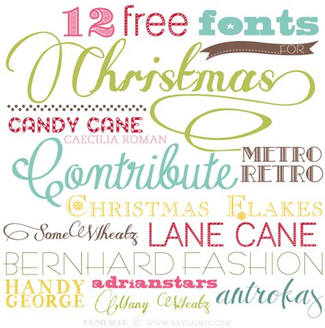 100 best holiday free fonts moritz fine blog designs