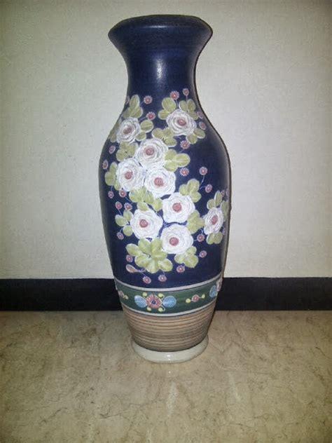 Vas Bunga Keramik Antik 3005 antik baheula vas keramik gambar bunga