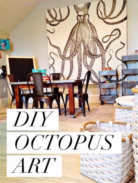 shower curtain wall art diy octopus art house of jade interiors blog