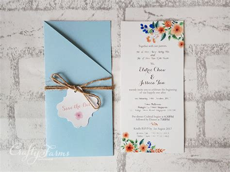 blue themed wedding invitations wedding card malaysia crafty farms handmade blue and