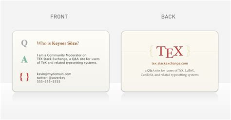 latex template for business card tex stack exchange moderator cards tex latex meta