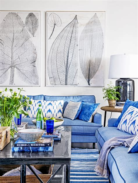 Living Rooms In Blue by Blue And White Rooms Decorating With Blue And White