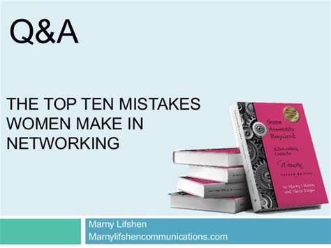 Organizations 10 Mistakes That Most Make by The Top Ten Mistakes Make In Networking