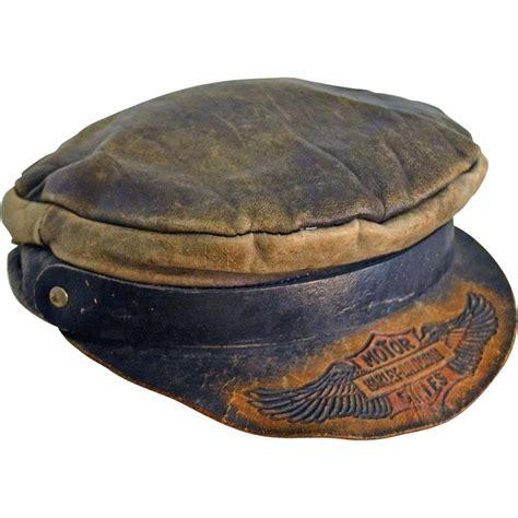 Harley Davidson Hats For Sale by Vintage Harley Davidson Motorcycle Embossed Leather Cap