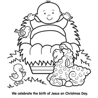 preschool coloring pages of baby jesus christmas coloring pages