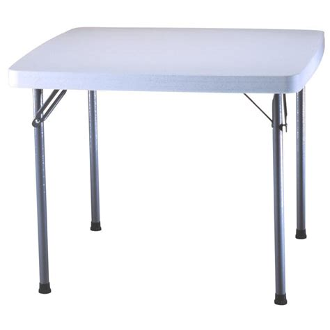 Square Card Table by Lifetime 37 In X 37 In White Granite Square Card Table