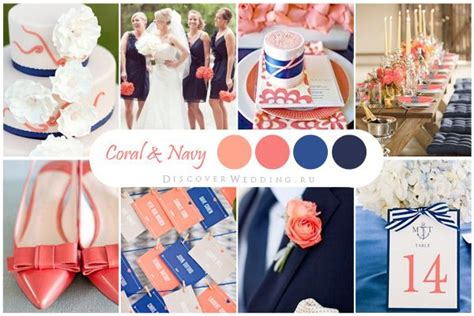 images  coral navy blue wedding