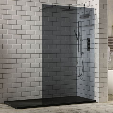 Small Cabinets For Bathroom Aquaglass 10mm Tinted Black Glass Walk In Shower