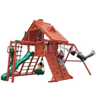 gorilla playsets sun palace ii cedar playset 01 0013 the