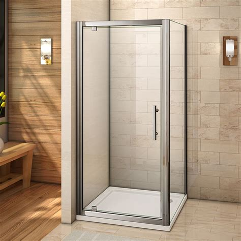1000 Pivot Shower Door Aica 700 760 800 900 1000 Pivot Hinge Shower Door Enclosure Tray Glass Screen Ebay