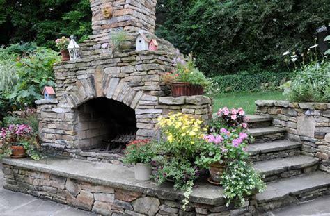 backyard stone fireplace outdoor fireplace new stanton pa photo gallery