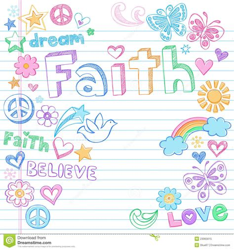 doodle name faith faith peace dove sketchy doodles vector royalty free stock