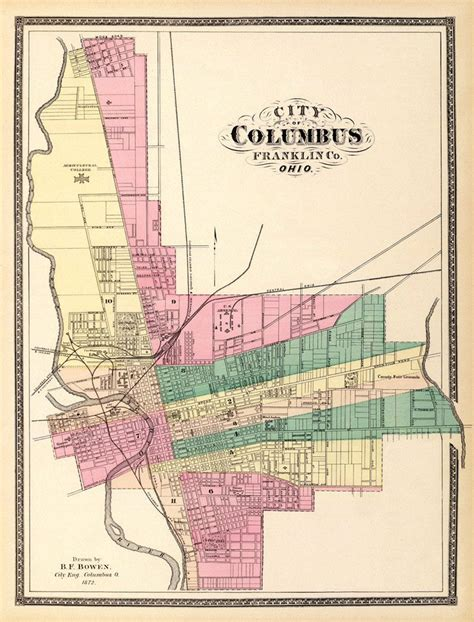Detox Lpn Columbus Ohio by Map Of Columbus Map Print Antique Maps