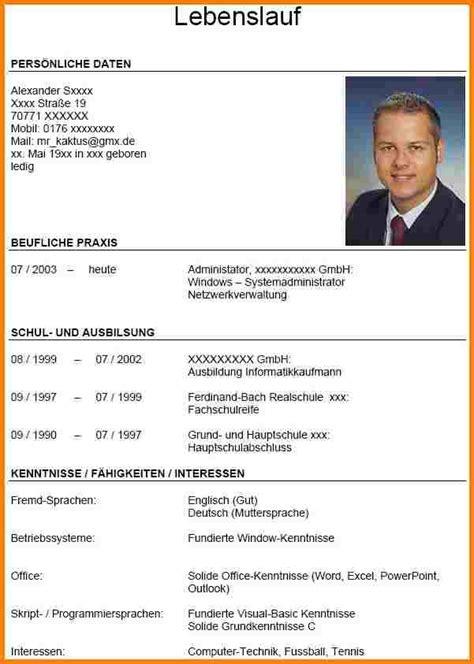 Bewerbung Foto Format 4 Lebenslauf Foto Resignation Format