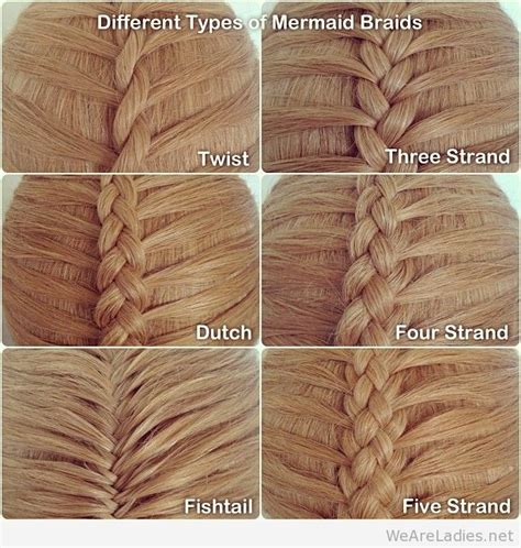 different types of twist with weave different types of mermaid braids
