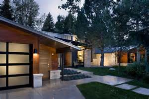 Contemporary Ranch House Mid Century Modern Exterior Curb Appeal