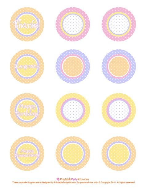 template for cupcake toppers free printable cupcake toppers