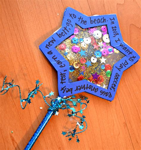 new year craft new year s centerpiece and wishing wand one artsy