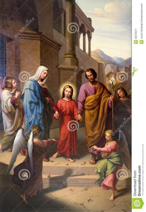 holy family  vienna church stock image image